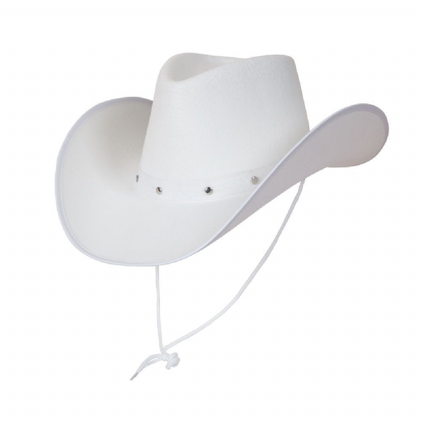 Texan Cowboy Hat - White